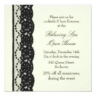 Open House Ivory French Lace Card