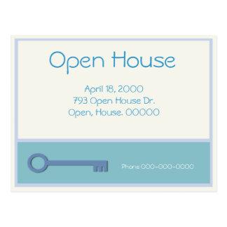 Open House Key Graphic Postcard