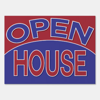 Open House Lawn Signs