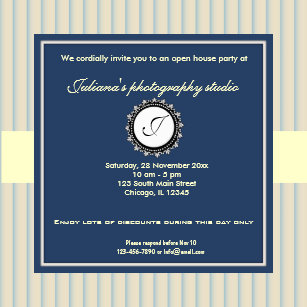 open house new business invitation