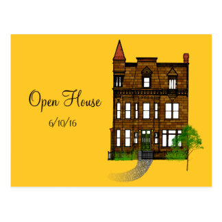 Open House or House Party Save the Date Postcard