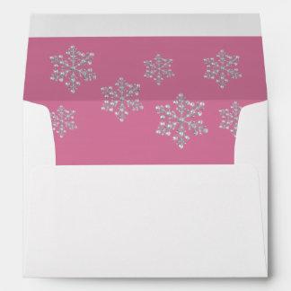 Open House Pink Crystal Snowflake 5X7 Envelope