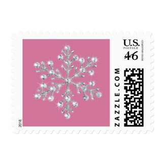 Open House Pink Crystal Snowflake Stamp