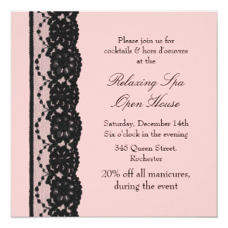 Open House Pink French Lace Card