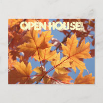 OPEN HOUSE! postcards Invitations Events Autumn