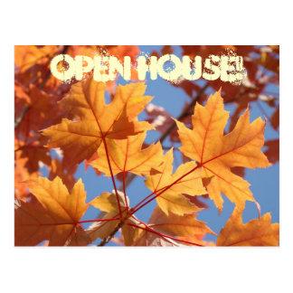 OPEN HOUSE! postcards Invitations Events Autumn