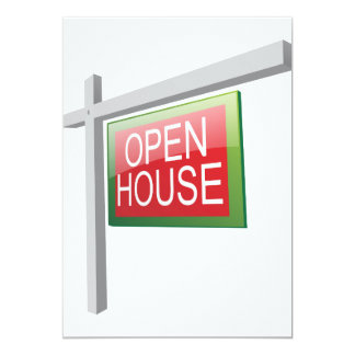 Open House Sign Invitations
