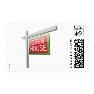 Open House Sign Postage