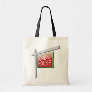 Open House Sign Tote Bag
