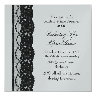 Open House Silver French Lace Card