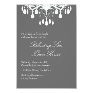 Open House Smokey Gray Grand Ballroom 5x7 Paper Invitation Card