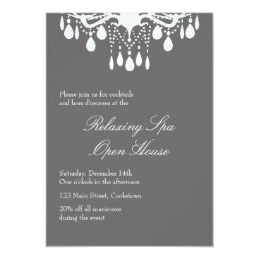 Professional Business Open House Smokey Gray Grand Ballroom Card
