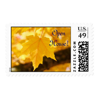 Open House! stamps Yellow Fall Leaves postage