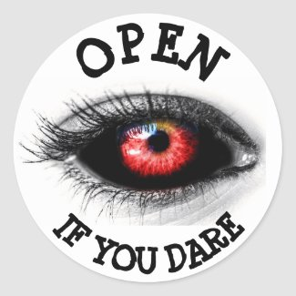 Open if you Dare, Scary Eyeball Sticker