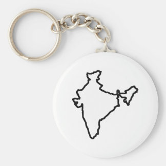 OPEN INDIA OUTLINE BASIC ROUND BUTTON KEYCHAIN