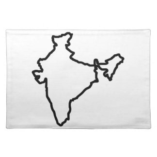 OPEN INDIA OUTLINE CLOTH PLACE MAT