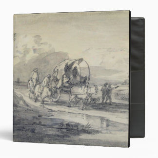 Open Landscape with Herdsman and Covered Cart, c.1 Binder