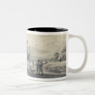Open Landscape with Herdsman and Covered Cart, c.1 Two-Tone Coffee Mug