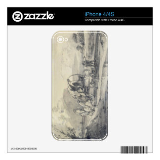Open Landscape with Herdsman and Covered Cart, c.1 Decals For iPhone 4S