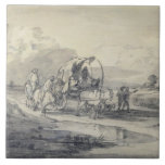 Open Landscape with Herdsman and Covered Cart, c.1 Tiles