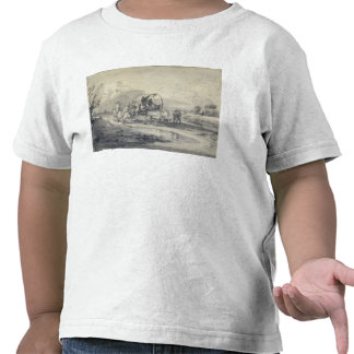 Open Landscape with Herdsman and Covered Cart, c.1 T-shirts