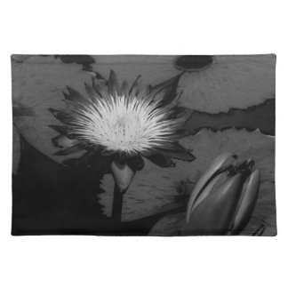 Open lily in water cloth placemat