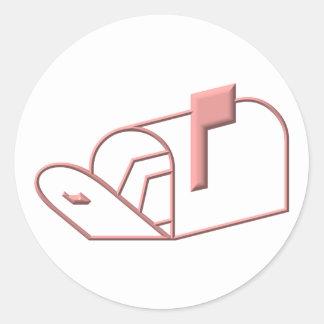Open Mailbox Classic Round Sticker