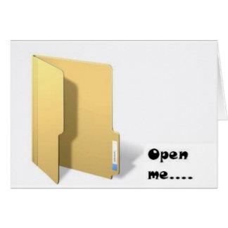 open me card