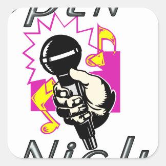 Open Mic Night Square Sticker