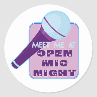 Open Mic Night Stickers