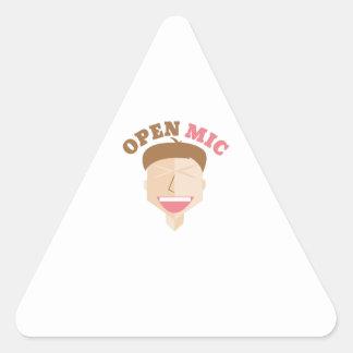Open Mic Triangle Sticker