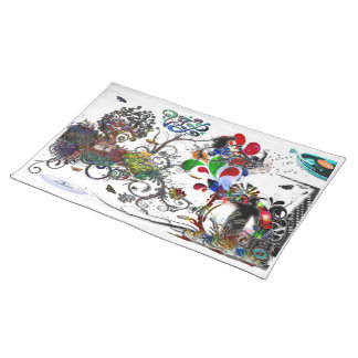 Open Microphone Music VIP Digital Collage Cloth Placemat