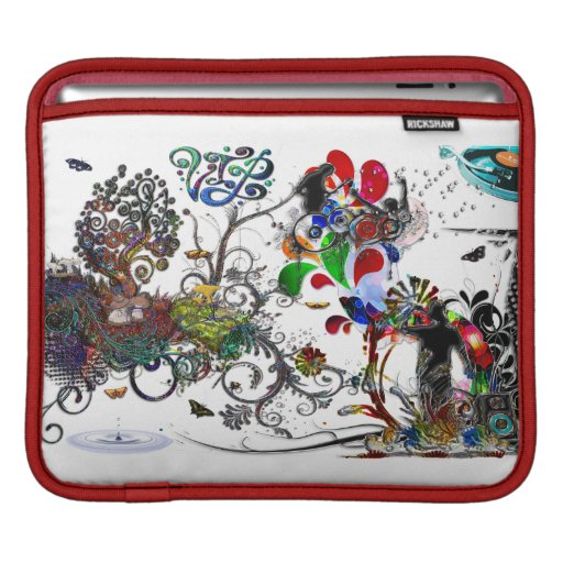 Open Microphone Music VIP Digital Collage Sleeve For iPads