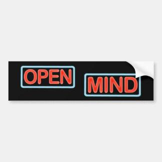 Open Mind Bumper Sticker Bumpersticker Car Bumper Sticker