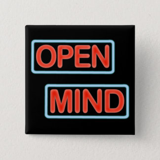 open mind button pin