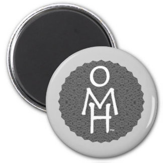 Open Mind & Heart. Be human, be kind. 2 Inch Round Magnet