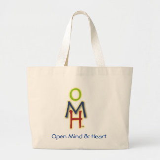 Open, Mind, Heart Large Tote Bag
