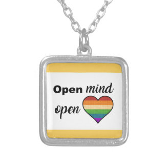 Open Mind, Open Heart Silver Plated Necklace