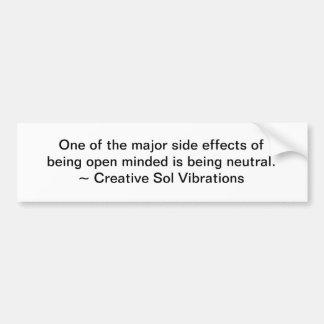 Open Minded Bumper Sticker