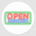 Open Minded Classic Round Sticker
