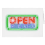 Open Minded Greeting Card