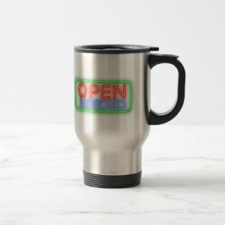 Open Minded 15 Oz Stainless Steel Travel Mug