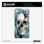 Open Minded Sugar Skull iPhone 4 Decals