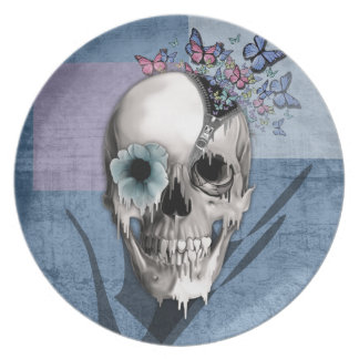 Open Minded Sugar Skull Party Plates