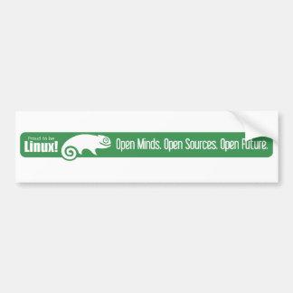 Open Minds, Open Sources, Open Future - SUSE Bumper Sticker