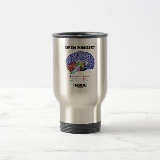 Open Mindset Inside (Anatomical Brain) 15 Oz Stainless Steel Travel Mug