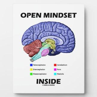 Open Mindset Inside Anatomical Brain Humor Plaque