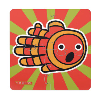Open Mouth Baby Clown Fish Puzzle Coaster