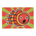 Hand shaped Open Mouth Baby Clown Fish Placemat