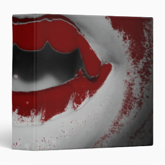 Open Mouth Bloody Vampire Fangs Binder